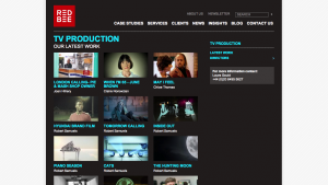 Red Bee Media Ltd - TV Production Website